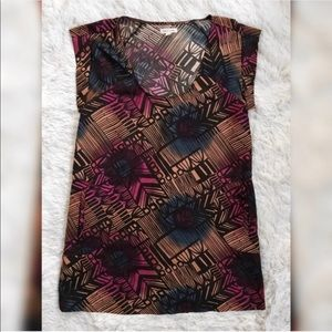 Silence + Noise Patterned Sleeveless Tunic Top